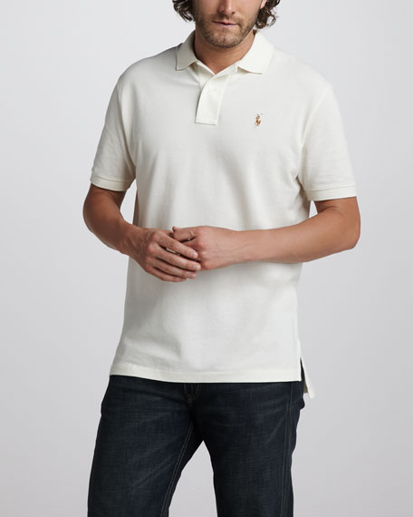 Classic-Fit Mesh Polo, Deep Chocolate