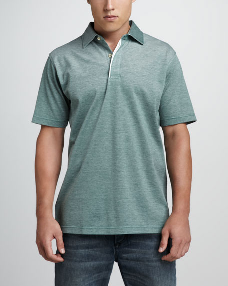 Country Oxford Short-Sleeve Polo, Erin Green