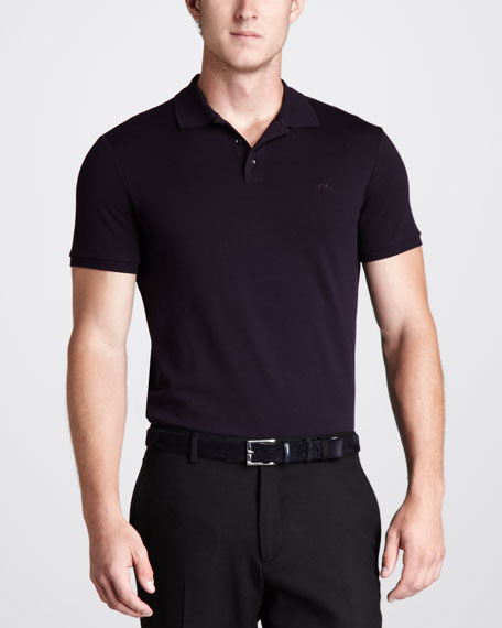 Mesh Polo, Midnight Purple X
