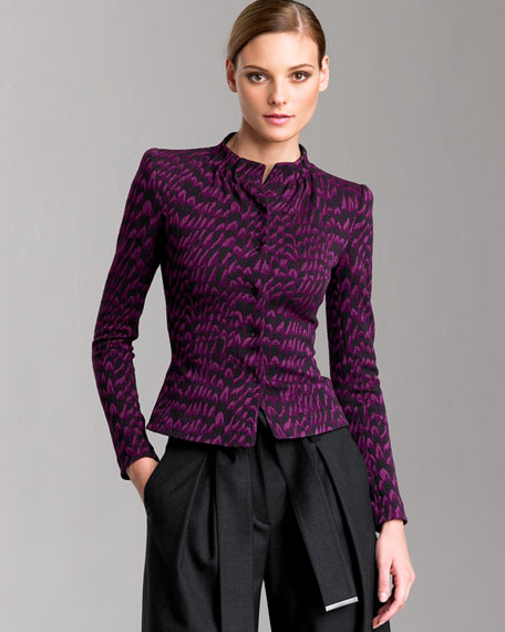 Abstract-Jacquard Jacket