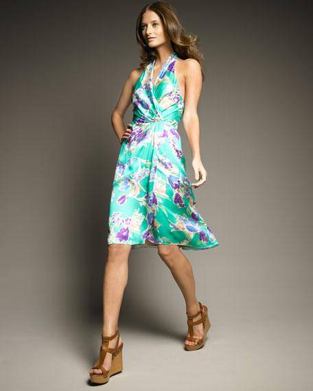 Cecilia Printed Halter Dress