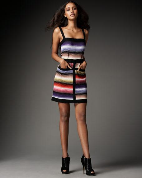 Pocketed Greek-Key Dress