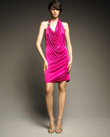 Draped Halter Dress