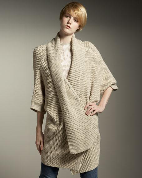 Chunky-Knit Cardigan Coat