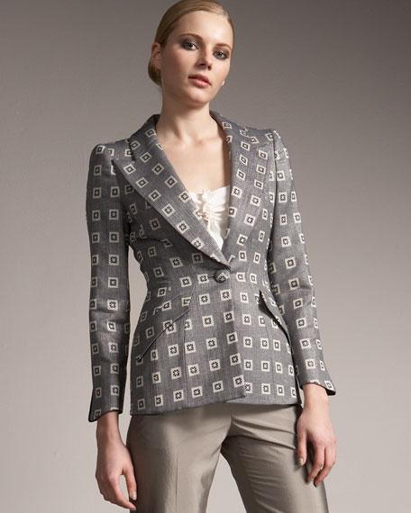Giorgio Armani Geometric Jacquard Jacket