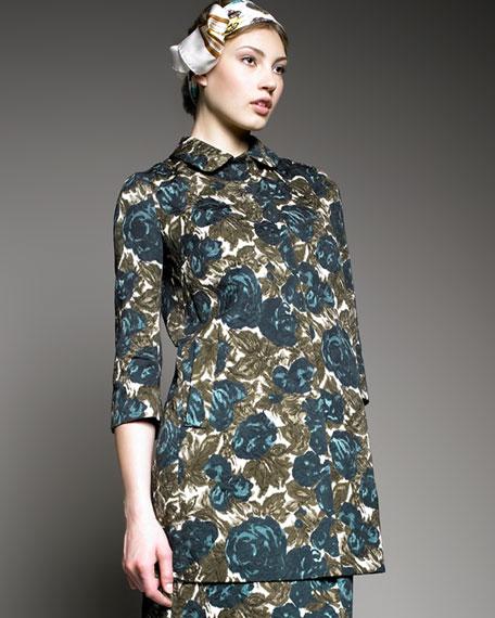 Floral Snap-Front Coat