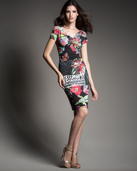 Low-Back Jersey Dress