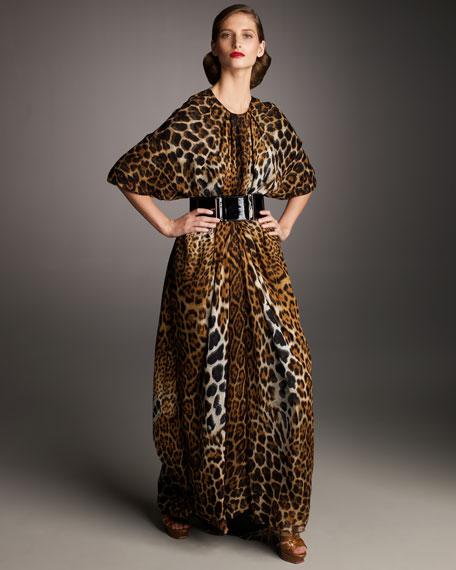 Leopard-Print Caftan