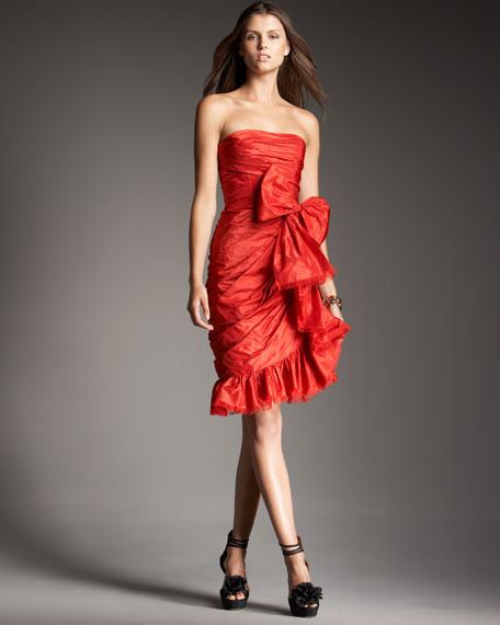 Taffeta Bow Dress