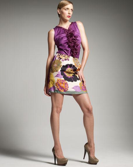 Scarf-Print Turn-Around Skirt