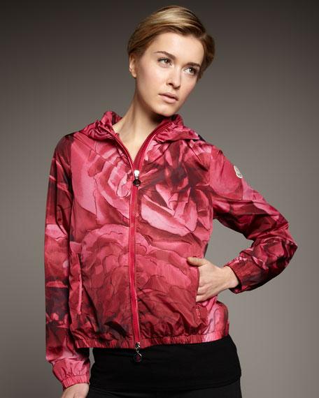 Floral-Print Hooded Jacket