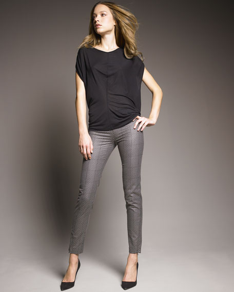 Yesseria Embroidered Trousers, Gray