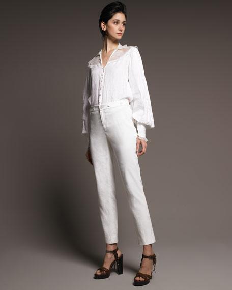 Linen Straight Pants