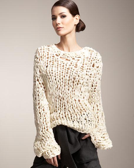 Hand-Knit Chiffon Sweater