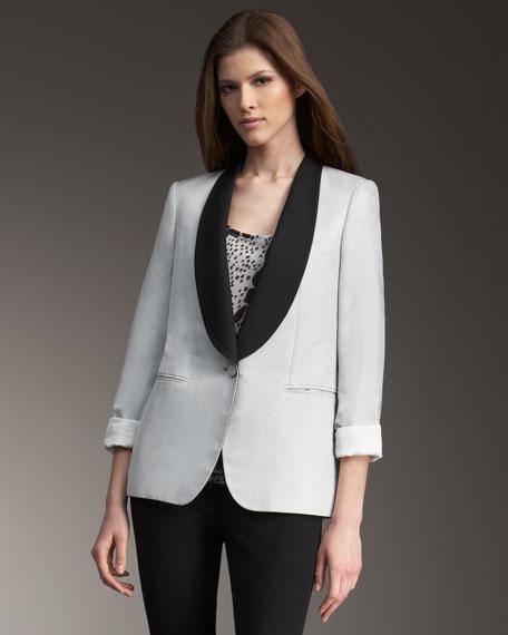 Contrast Shawl-Collar Jacket