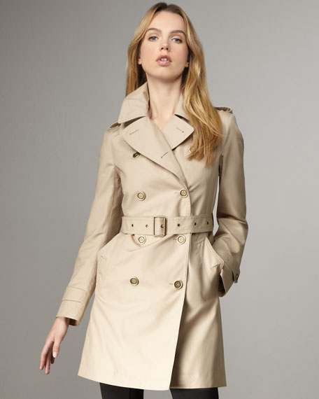 Check-Lined Trenchcoat