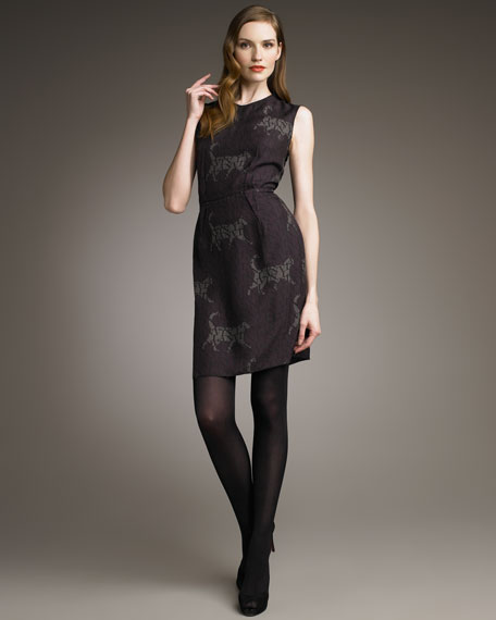 Catwalk Logo-Print Sheath Dress