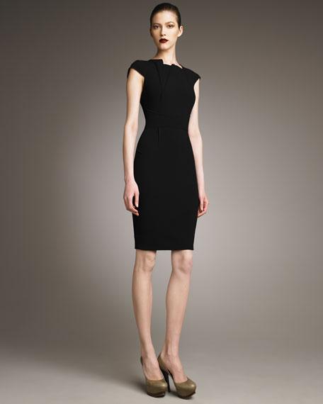 Exclusive Brownlow V-Back Dress, Black