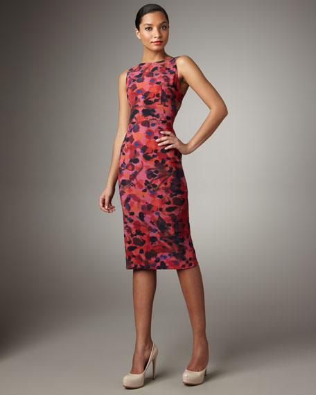 Darcy Printed Powermesh Dress