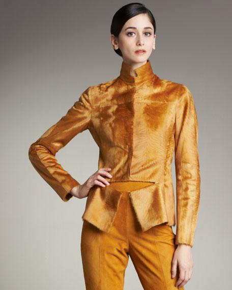 Lambskin Front-Zip Jacket