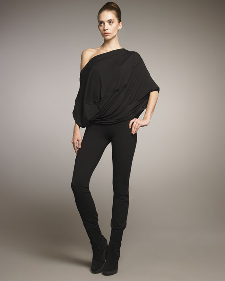 Structured Slim Jersey Pants