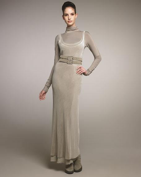 Layered Velvet Slip Dress