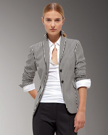 Spread-Collar Blouse