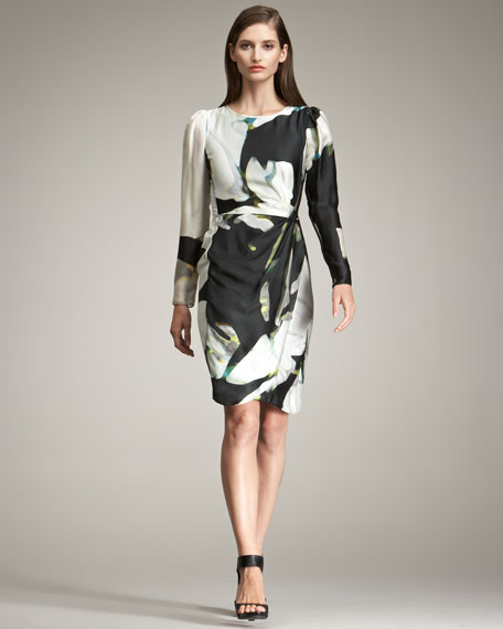 Armani Collezioni Floral-Print Silk Dress