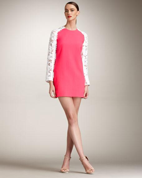 Lace-Sleeve Dress