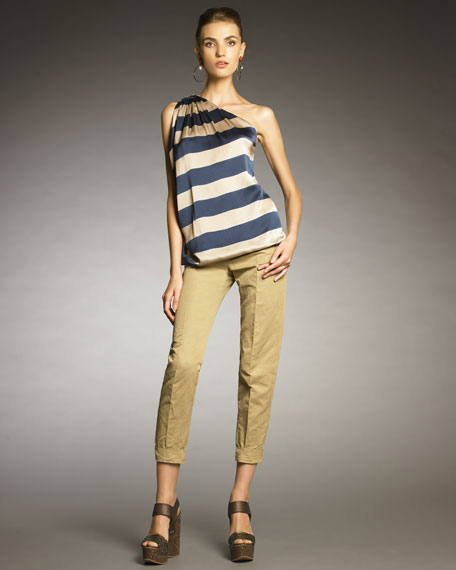 Cropped Twill Pants