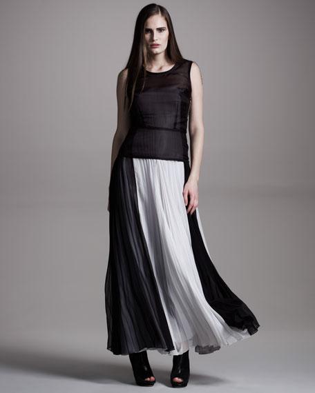 Plisse Gown