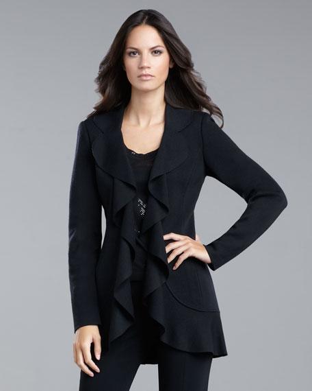 Ruffle-Front Jacket