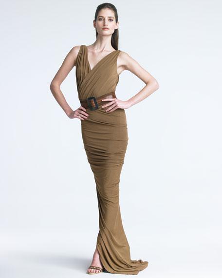Surplice Jersey Gown