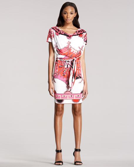 Printed Short-Sleeve Dress