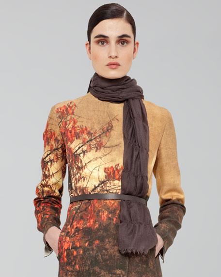 Fringed Silk-Cashmere Scarf