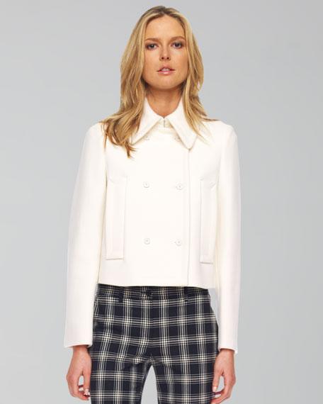 Melton Wool Skinny Pea Coat