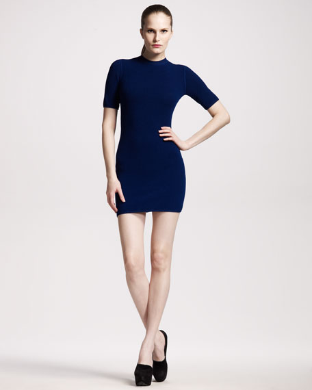 Thermal Knit Sheath Dress
