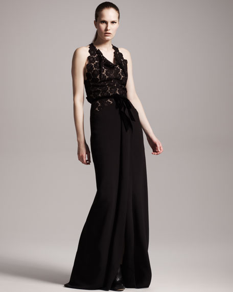 Hexan Lace-Bodice Gown