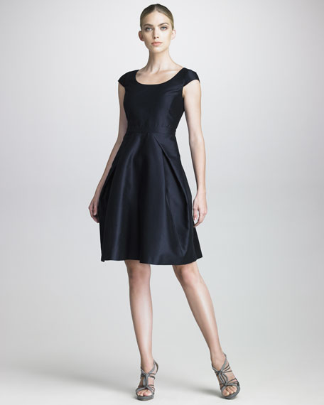 Full-Skirted Taffeta Dress