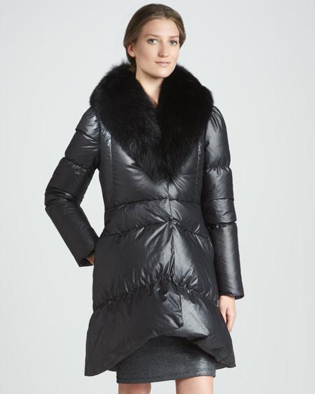 Gretchen Fur-Collar Puffer Coat