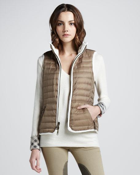 Reversible Lightweight Puffer Vest