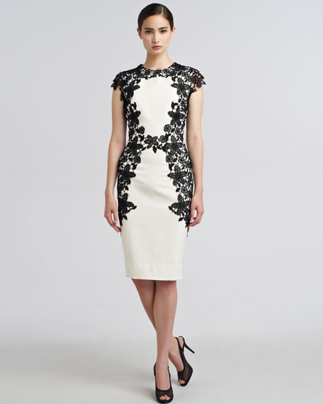 Lace-Applique Sheath Dress