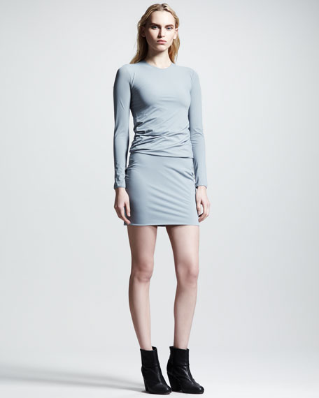 Matte Tricot Twist Dress, Lead