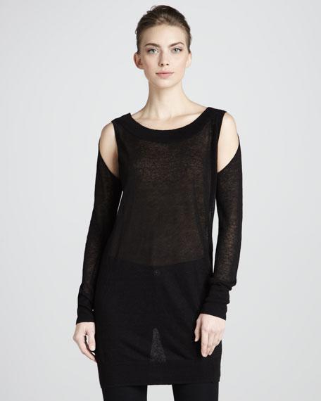 Cold-Shoulder Tunic, Black