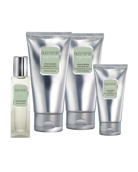Creme de Pistache Body and Bath Quartet