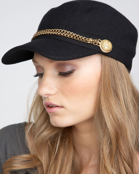 Chain-Detailed Military Cap