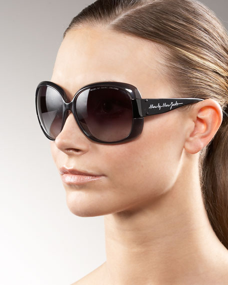 Large Wide-Temple Sunglasses
