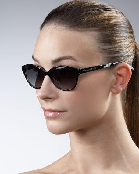 Medium Printed-Arm Sunglasses
