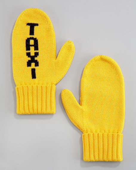 """""""TAXI"""" mittens"""