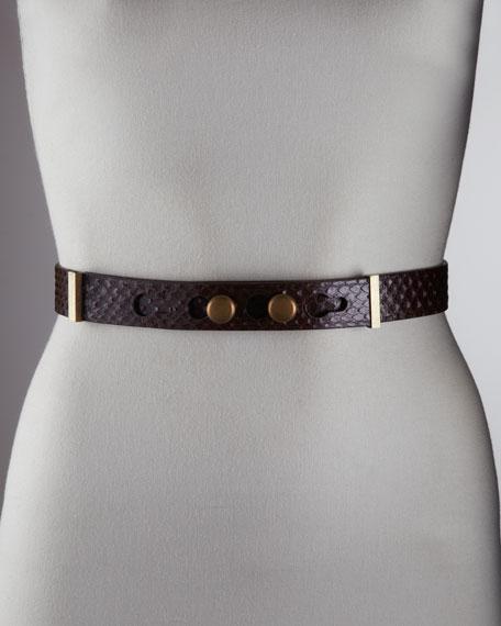 Studded Python Belt